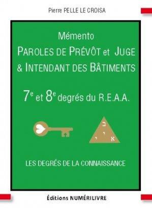 Mémento 7e et 8e degré du R.E.A.A - Numérilivre - 9782366320596 -