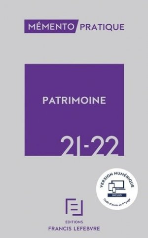 Mémento PATRIMOINE 2021 2022 - Francis Lefebvre - 9782368935576 -