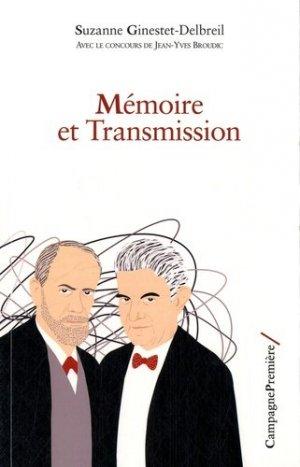 Mémoire et transmission - campagne première - 9782372060110 -