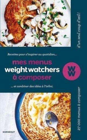 Mes menus Weight Watchers à composer - Marabout - 9782501125222 -