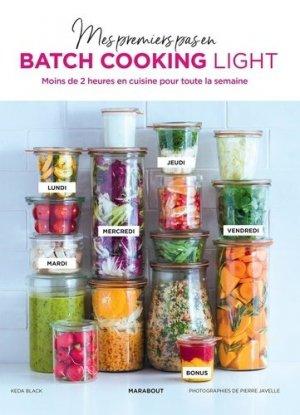 Mes premiers pas en batch cooking light - Marabout - 9782501149105 -