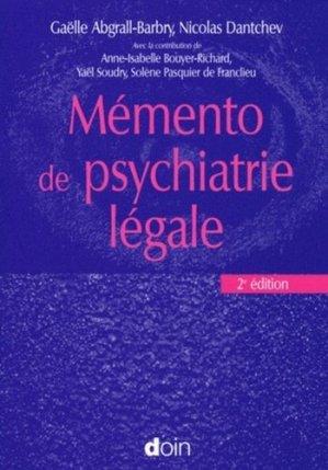 Mémento de psychiatrie légale - doin - 9782704012770 -