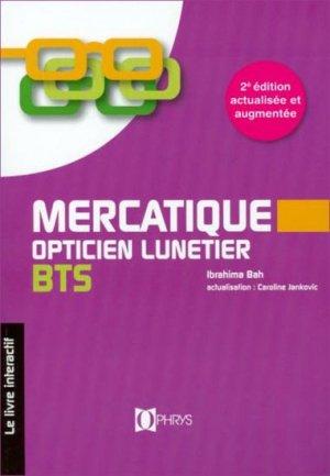 Mercatique, opticien lunetier BTS - ophrys - 9782708012981 -