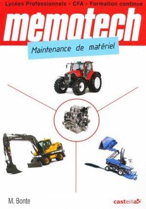 Mémotech Maintenance des matériels - casteilla - 9782713533860 -