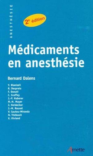 Médicaments en anesthésie - arnette - 9782718410326 -