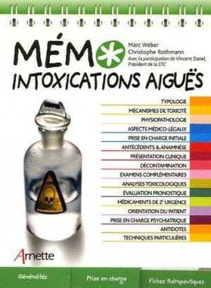 Mémo intoxications aiguës - arnette - 9782718411224 -