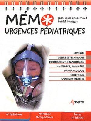 Mémo urgences pédiatriques - arnette - 9782718412351 -