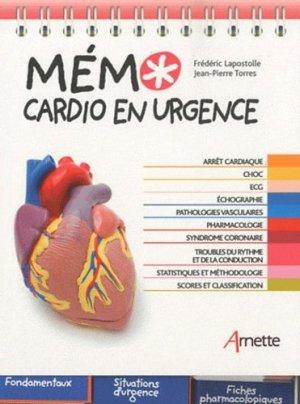 Mémo cardio en urgence - arnette - 9782718412474 -