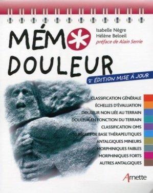 Mémo douleur - éditions lamarre / arnette - 9782718413808 -