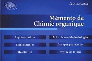 Mémento de chimie organique - ellipses - 9782729815325 -