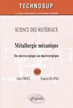 Métallurgie mécanique - ellipses - 9782729861209 -