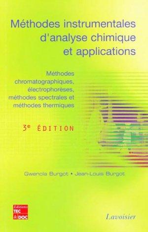 Méthodes instrumentales d'analyse chimique et applications - lavoisier / tec et doc - 9782743013370 -
