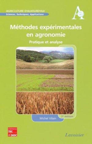 Méthodes expérimentales en agronomie - lavoisier / tec et doc - 9782743014186 -