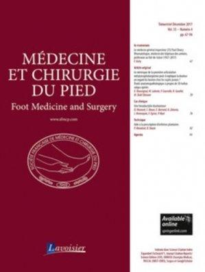 Médecine et chirurgie du pied N° 4 volume 33 - lavoisier - tec et doc editions - 9782743023782 -