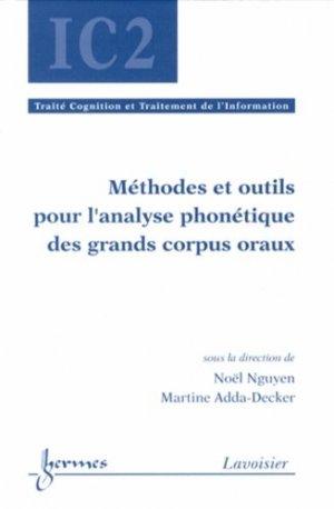 Méthodes et outils pour l'analyse phonétique des grands corpus oraux - Hermes Science Publications - 9782746245303 -