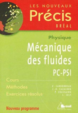 Mécanique des fluides PC - PSI - breal - 9782749504049 -