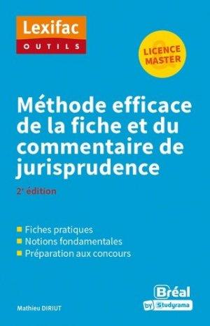 Méthode efficace de la fiche et du commentaire de jurisprudence - Bréal - 9782749539867 -