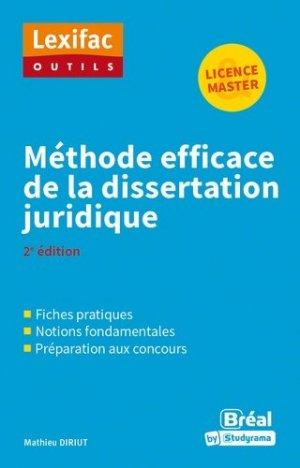 Méthode efficace de la dissertation juridique - Bréal - 9782749539874 -
