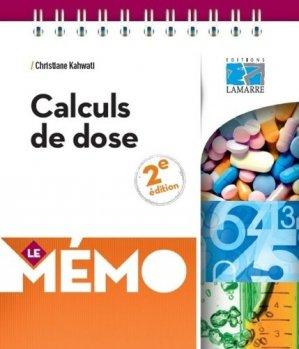 Mémo calculs de dose - éditions lamarre / arnette - 9782757309544 -