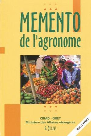 Mémento de l'agronome - quae  - 9782759203574 -