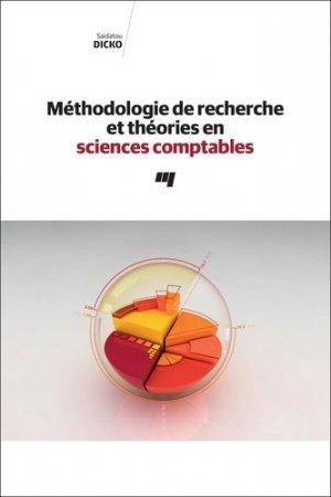 Méthodologie de recherche et théories en sciences comptables - Presses de l'Université du Québec - 9782760552098 -