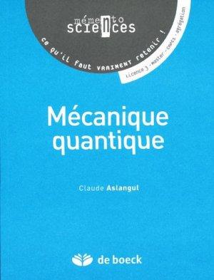 Mécanique quantique - de boeck superieur - 9782804160036 -