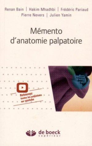Mémento d'anatomie palpatoire - de boeck superieur - 9782804190750 -