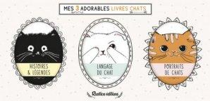 Coffret Mes 3 adorables livres chats - Rustica - 9782815313711 -