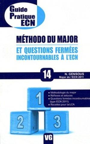 Méthodo du major et questions fermées incontournables à l'ECN - vernazobres grego - 9782818303801 -