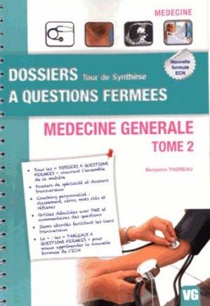 Médecine générale Tome 2 - vernazobres grego - 9782818307809 -