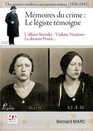 Mémoires du crime : le légiste témoigne - micro application - 9782822405669