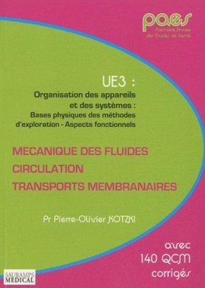 Mécanique des fluides - Circulation - Transports membranaires - sauramps medical - 9782840237136