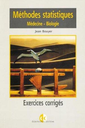 Méthodes statistiques Médecine-Biologie - estem - 9782843710674