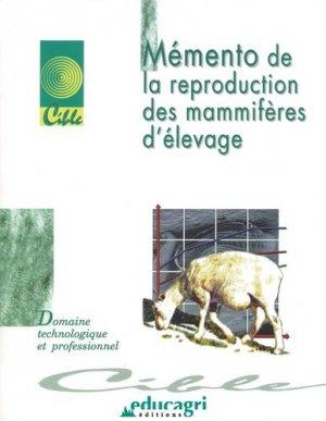 Mémento de la reproduction des mammifères d'élevage - educagri - 9782844442642 -
