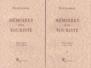 Mémoires d'un touriste. Edition intégrale en 2 volumes - Ressouvenances - 9782845050006 -