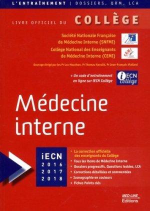 Médecine interne - med-line - 9782846782104 -