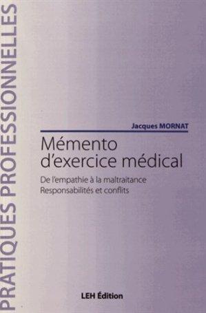 Mémento d'exercice médical - les etudes hospitalieres - leh édition - 9782848747330 -