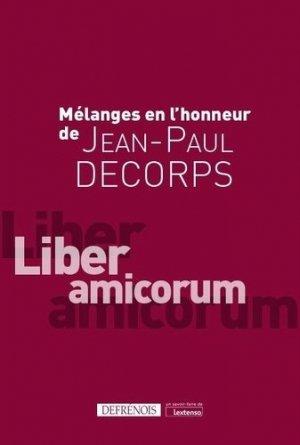 Mélanges offerts à Jean-Paul Decorps - Répertoire Defrénois - 9782856235393 -