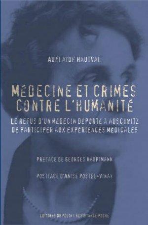 Médecine et crimes contre l'humanité - du félin - 9782866458881