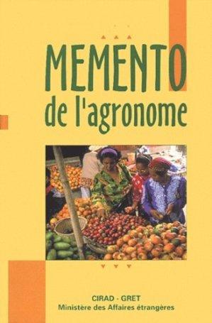 Mémento de l'agronome - quae  - 9782868441294 -