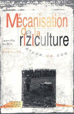 Mécanisation de la riziculture - cirad - 9782876143005 -