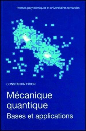Mécanique quantique - presses polytechniques et universitaires romandes - 9782880743994 -