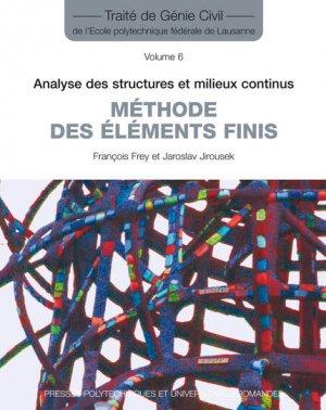Méthode des éléments finis (TGC volume 6) - presses polytechniques et universitaires romandes - 9782880748524 -