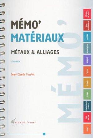 Mémo' Matériaux - arnaud franel - 9782896031436 -