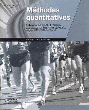 Méthodes quantitatives - modulo (canada) - 9782896508938 -