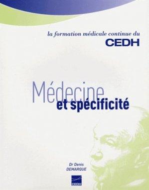 Médecine et spécificité - cedh - 9782915668407 -