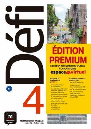 Méthode de français Défi 4. Livre de l'élève. Edition premium : inclut un accès premium d'un an à la plateforme espace virtuel, avec 1 CD audio - Difusión Centro de Investigación y publicaciones de idiomas - 9788417249724 -