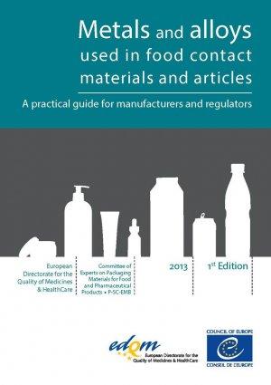 Métaux et alliages constitutifs des matériaux et objets pour contact alimentaire - edqm / conseil de l'europe - 9789287179692 -