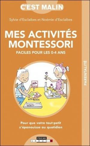 Mes activites Montessori faciles pour les 0-4 ans - leduc - 9791028516673 -