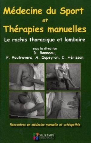 Médecine du sport et thérapies manuelles - sauramps medical - 9791030301120 -